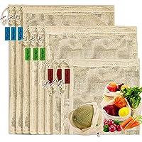 Reusable-Cotton-Mesh-Produce-shopping-Bags-Biodegradable Washable Eco Friendly Premium See Through Lightweight Net zero…