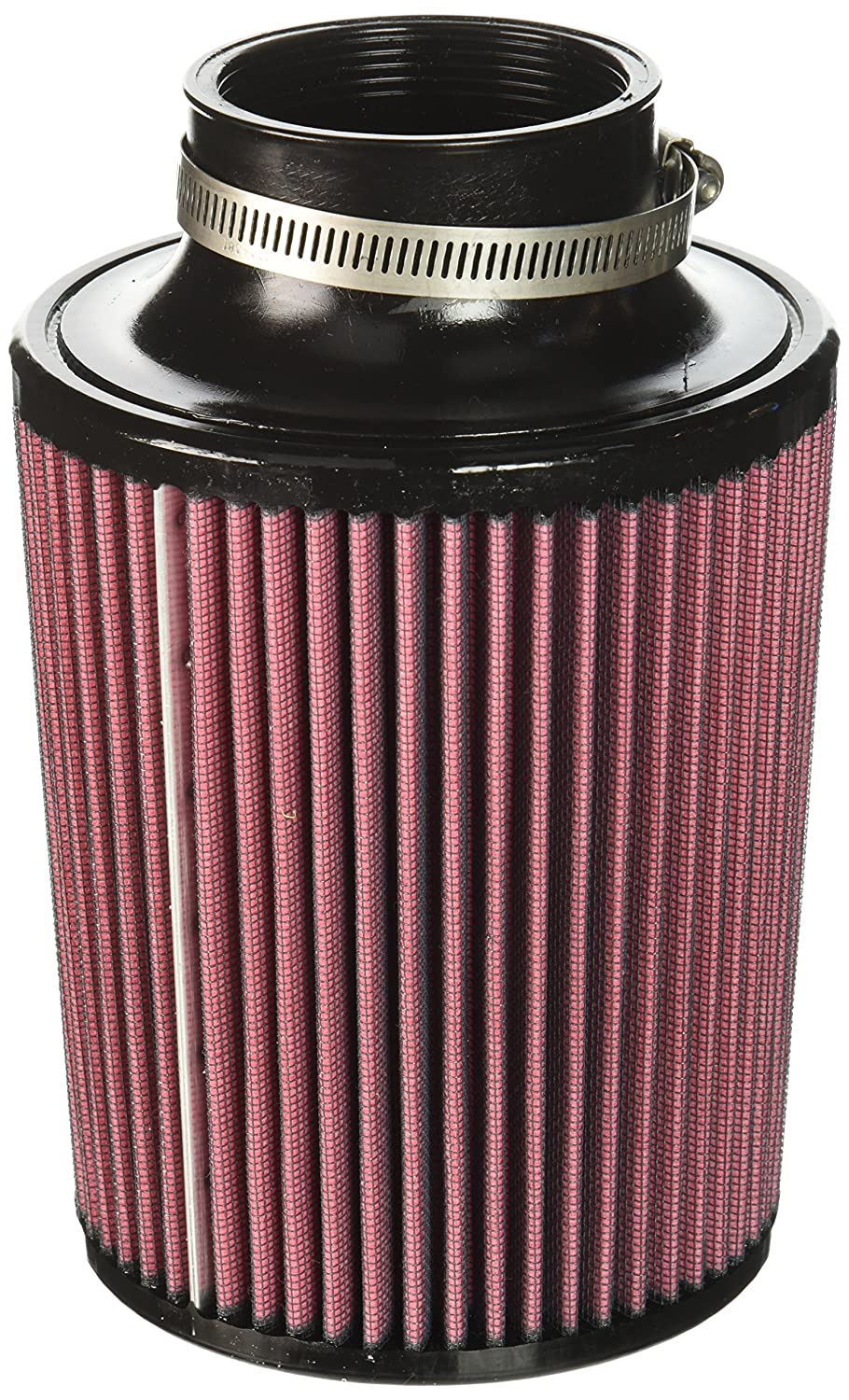 Mishimoto MMAF-2757 Performance Air Filter, 2.75' Inlet, 7' Filter Length, Red 2.75 Inlet 7 Filter Length