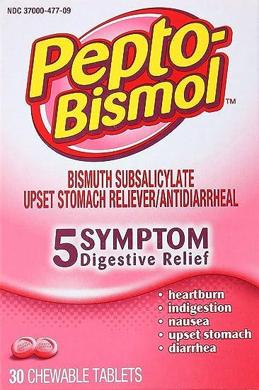 Amazoncom Pepto Bismol Original Chewable Tablets Box 30 Ct