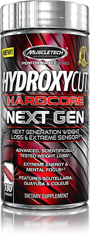Weight Loss Pills for Women & Men | Hydroxycut Hardcore Next Gen | Weight Loss Supplement Pills | Energy Pills | Metabolism Booster for Weight Loss | Weightloss & Energy Supplements | 180 Pills