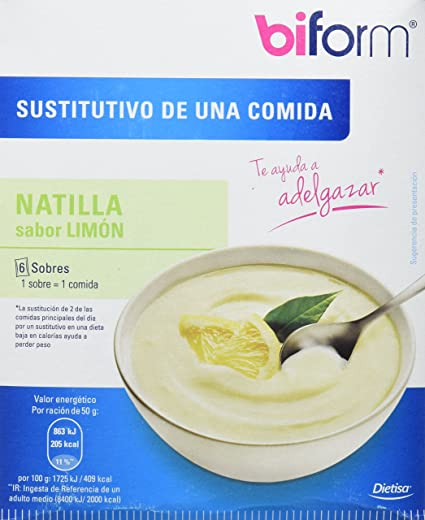 BIFORM NATILLAS LIMON 6 Sobres