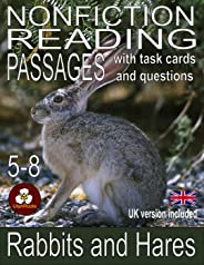 Rabbits and Hares Nonfiction Reading Passages, Task Cards, and Inference Questions