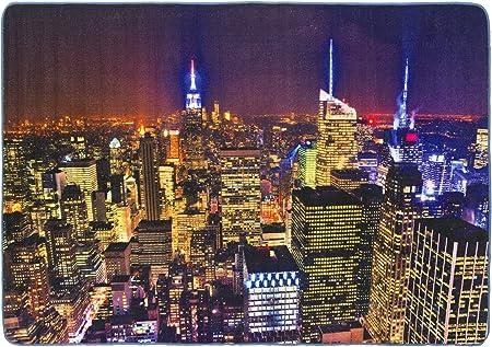 Debonsol/ /Alfombra sal/ón Patchwork New York Negro 120/x 170/cm