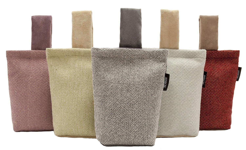 Herringbone textiles weave semi plain wool textured fabric Decorative door stoppers