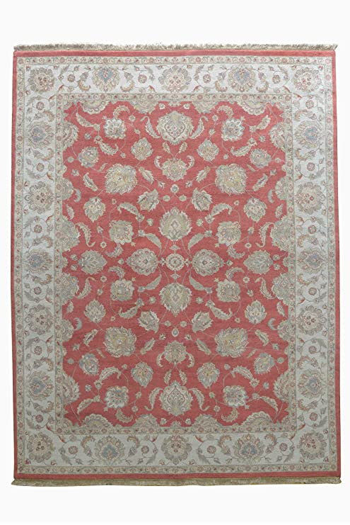 Amazon Com Hand Knotted Nepalese Rug 9 X 12 Rust Color 9 Feet X 12