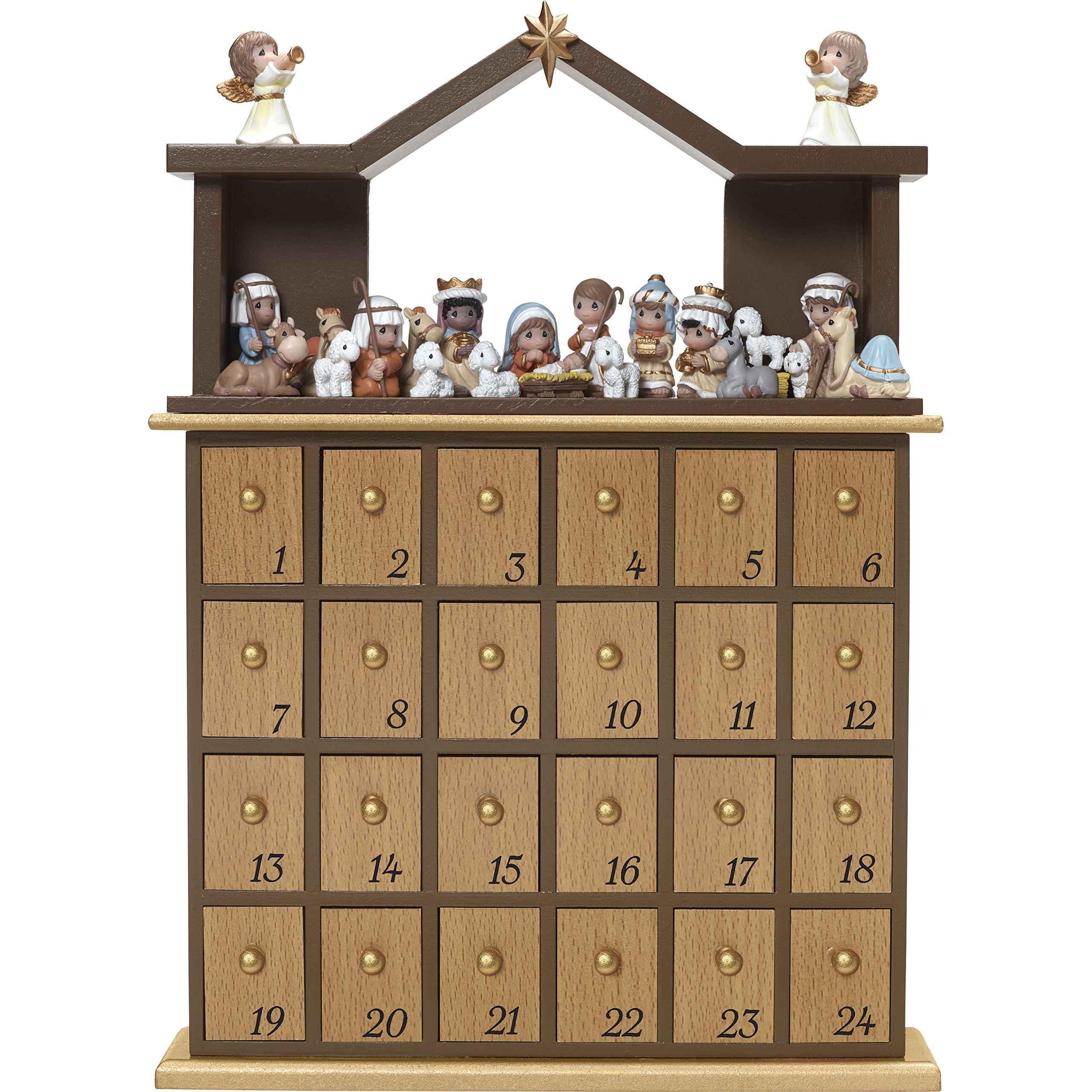 Precious Moments'' O Come Let Us Adore Him Nativity Advent Calendar (Set of 26), Multicolor