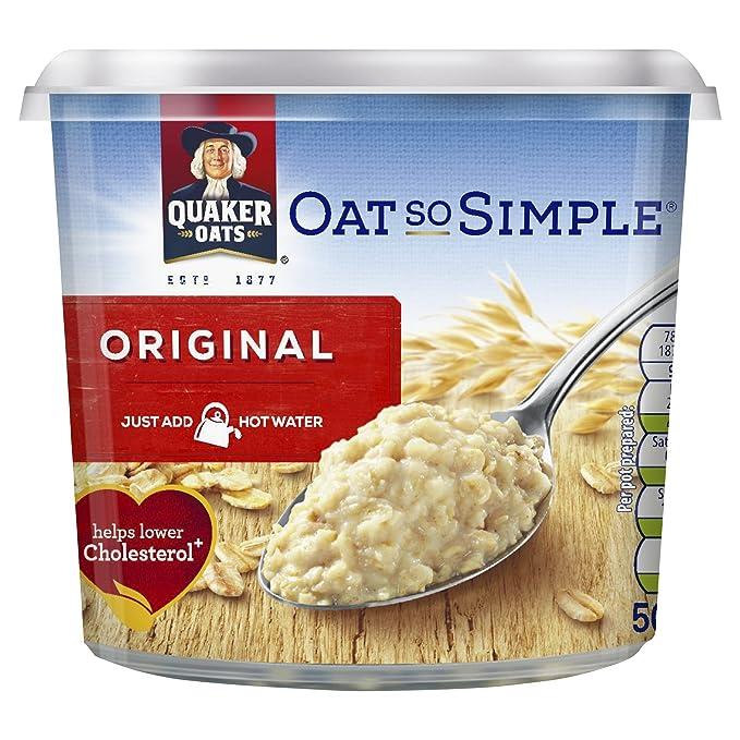 Avena Quaker Oats Así Simple Pot 50g PMP (paquete de 8 x 50 g): Amazon.es: Alimentación y bebidas