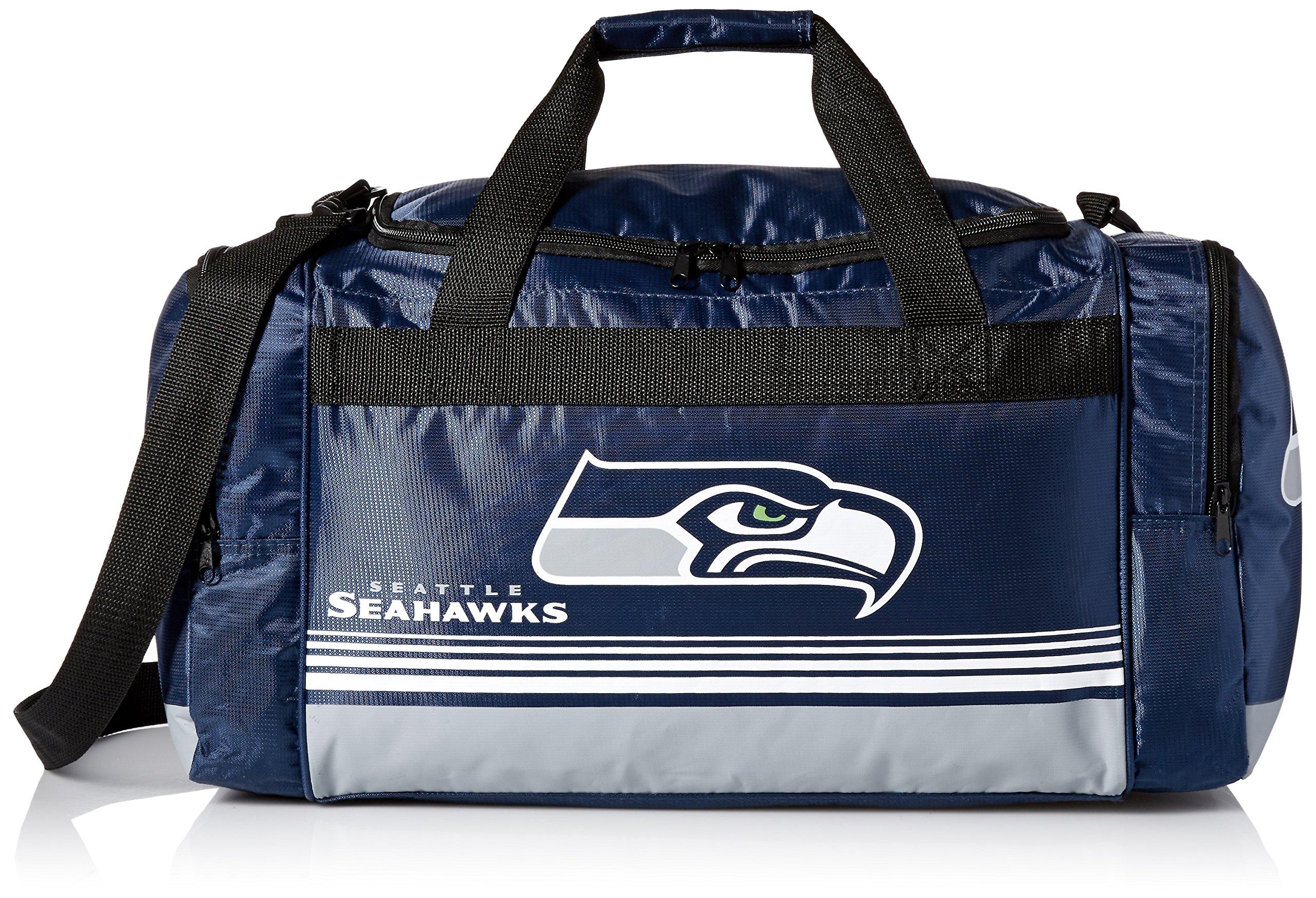 FOCO Seattle Seahawks Medium Striped Core Duffle Bag