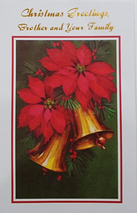 christmas greetings brother and your family holiday greeting card wishing all of you
