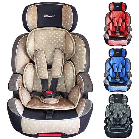 XOMAX XL-518 Silla de coche con ISOFIX I creciendo con usted I 9-36 kg, 1-12 años, grupo 1/2/3 I Arnés de 5 puntos y arnés de 3 puntos I Funda ...