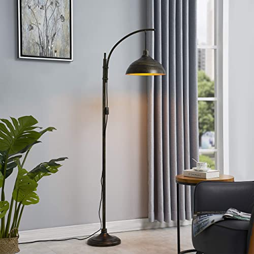 WOXXX Industrial Floor Lamp Modern Rustic Task Floor Lamp