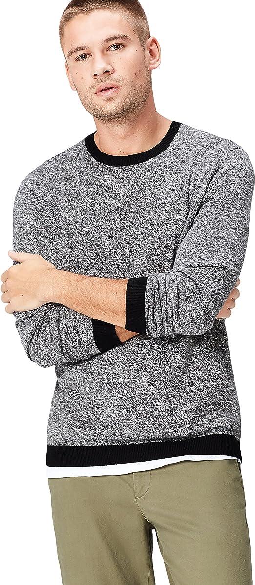 TALLA M. Marca Amazon - find. Jersey de Punto con Textura para Hombre