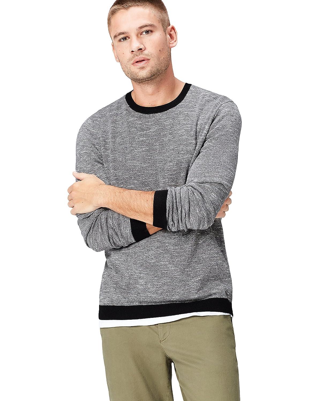 TALLA 52 (Talla del Fabricante: Large). find. Jersey de Punto con Textura para Hombre