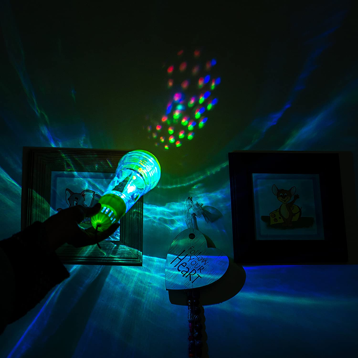 Magic Microphone with Multicolored Flashing Light /& Fun Rattle Echo Mic for Kids /& Toddlers Tran