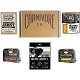 Carnivore Club Gift Box Jerky & Meat Sticks Sampler - Jerkygram - 4 to 6 Meat Snacks - Comes in Carnivore Club Themed Box - G