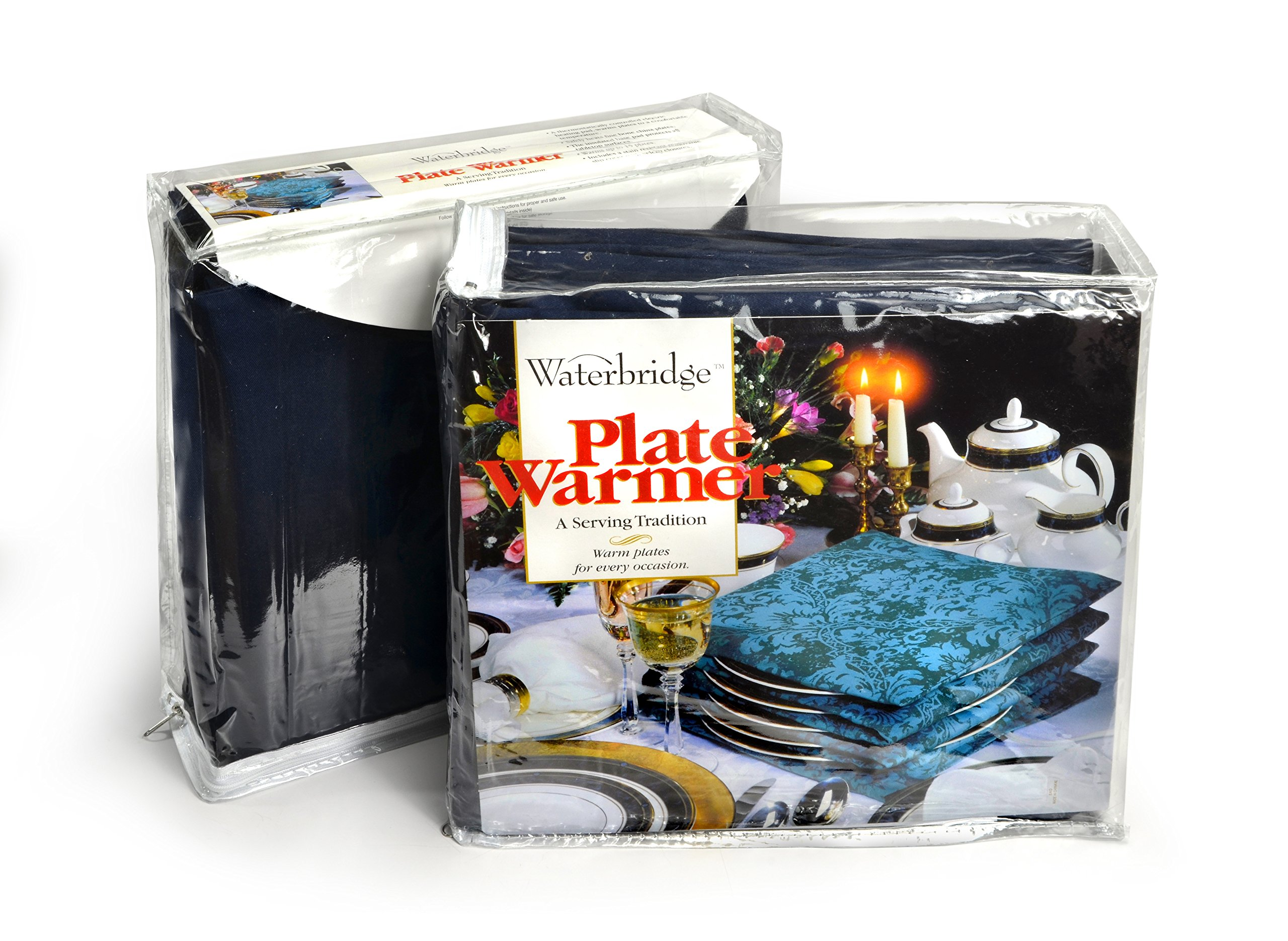 Waterbridge Electric Plate Warmer - Heats up to 15 Large Plates - Crimson Damask