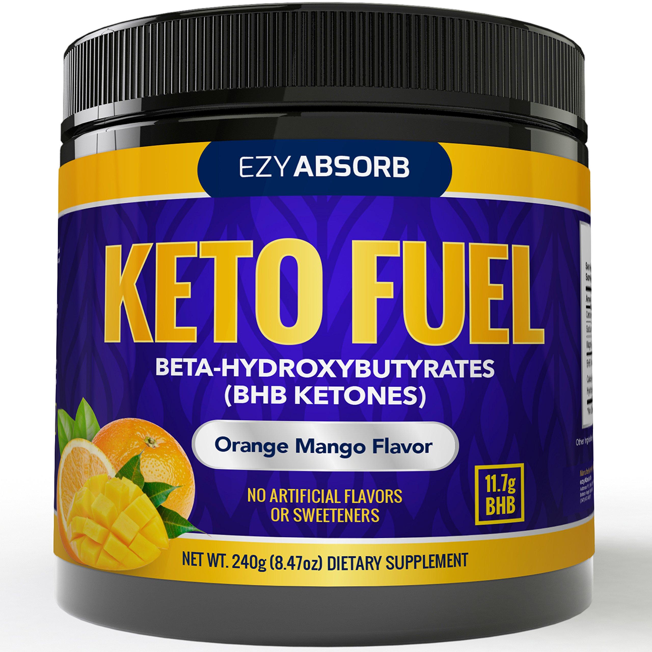 EzyAbsorb Keto BHB Ketones Salts - Exogenous Keto Complex - The Perfect Keto Snack and Keto Drink Formulated for Keto Base, Keto Diet, Keto Meal, Instant Ketones by EzyAbsorb
