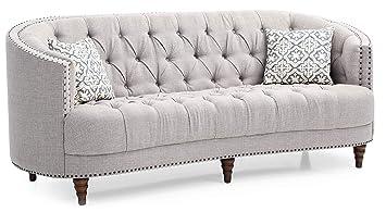 Light gray living room furniture Sectional Glory Furniture Charleston G850s Sofa Light Gray Living Room Furniture 36quot Amazoncom Amazoncom Glory Furniture Charleston G850s Sofa Light Gray