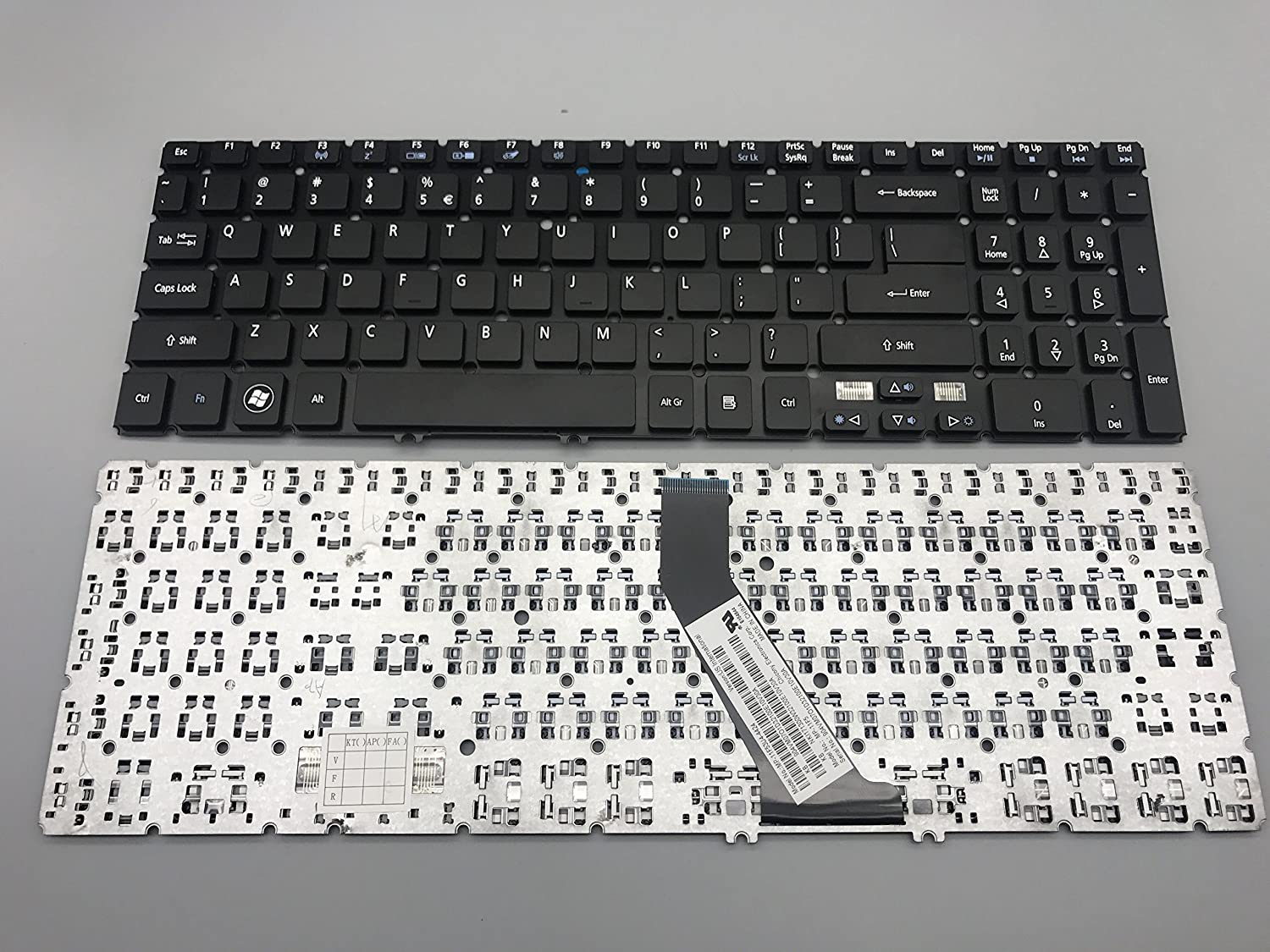 New Keyboard for Acer Aspire V5 V5-531 V5-571 V5-571P V5-531 V5-571 V5-551G V5-571G V5-571PG M5-581G M5-581T M5-581TG Series US Layout P/N: MP-11F53U4-4424 Black