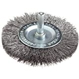Forney 60017 Wheel Brush, Fine Crimped Wire with 1/4-Inch Shank, 3-Inch