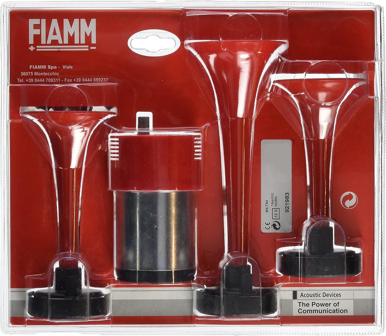 FIAMM 921983 Trumpet Triple Air Horns Red