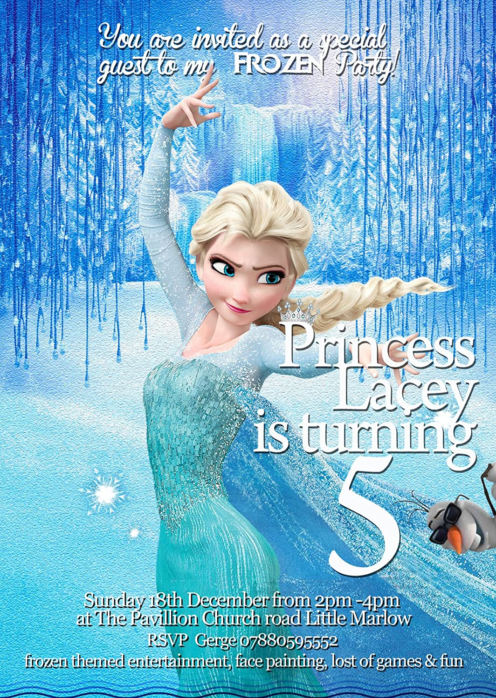Invitaciones Fiesta De Cumpleaños Frozen Princesa Elsa 8 De