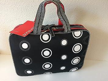 5e33b02a2ea Amazon.com : Sonia Kashuk Weekender Makeup Cosmetic Travel Tote Bag - Black  Circles Dots : Beauty