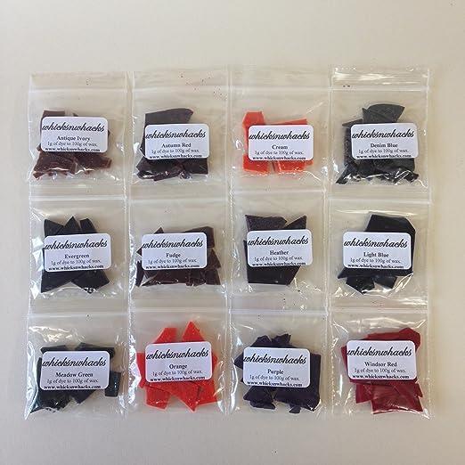 WHICKSNWHACKS bolsas de 12 x 5 gramos velas (10 G, para ...