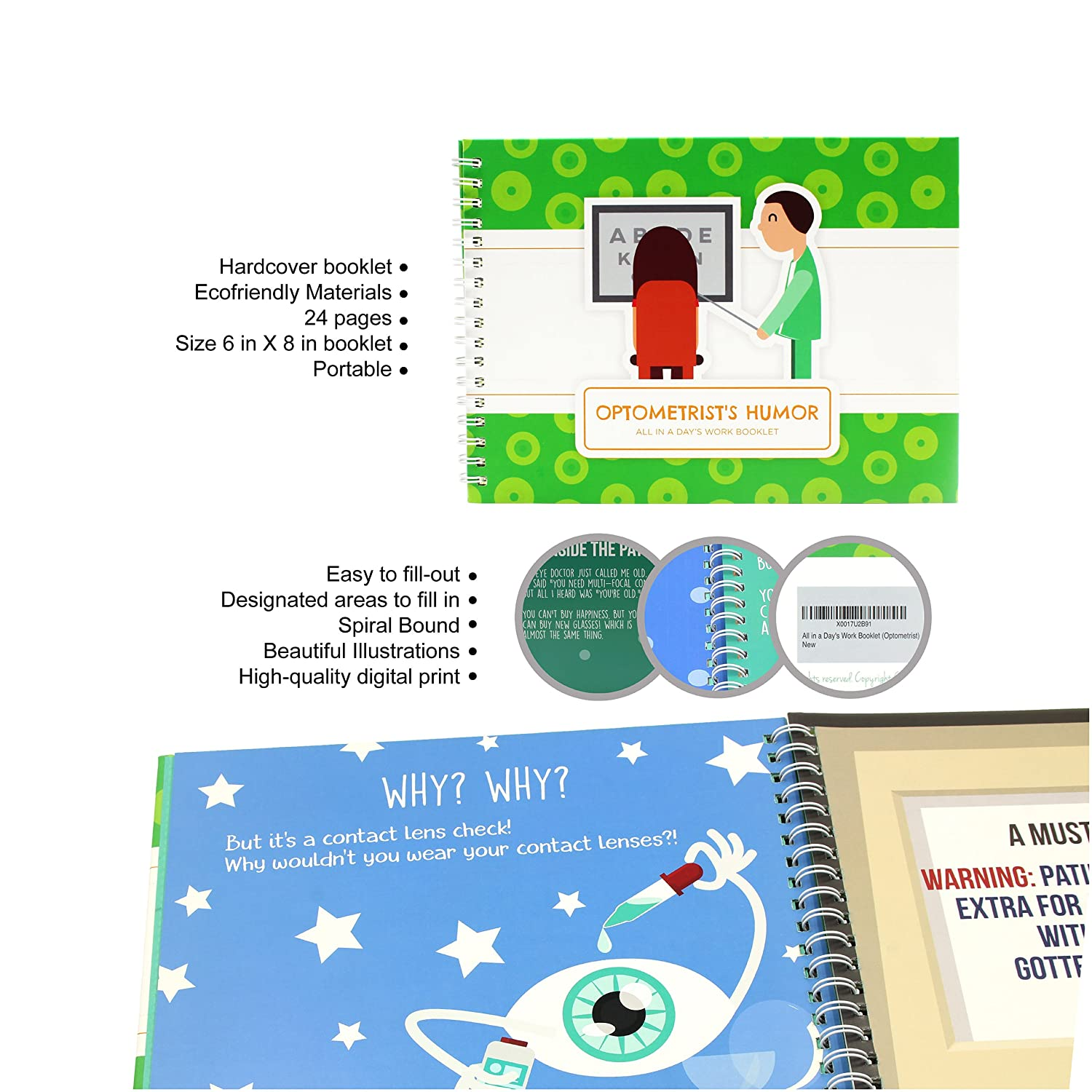 Amazon Unconditional Rosie Optometrist Gifts Booklet Your