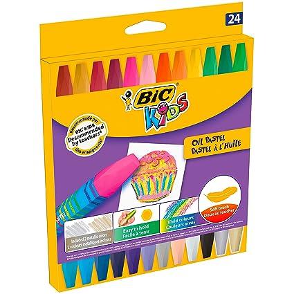 Amazon.com : Estuche 24 ceras pastel al oleo colores ...