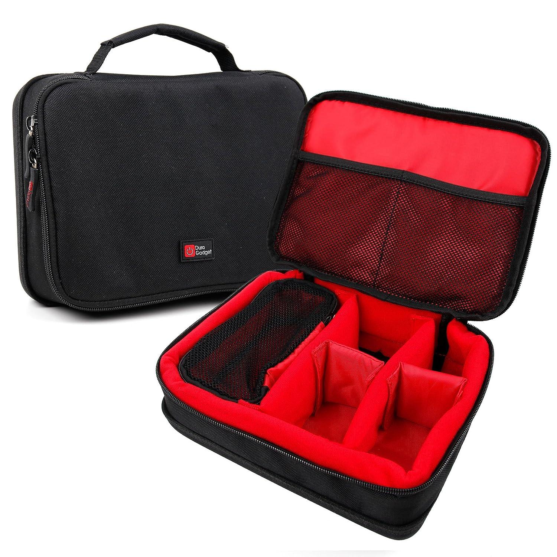 DURAGADGET Bolsa Acolchada Profesional Negra con Compartimentos e ...