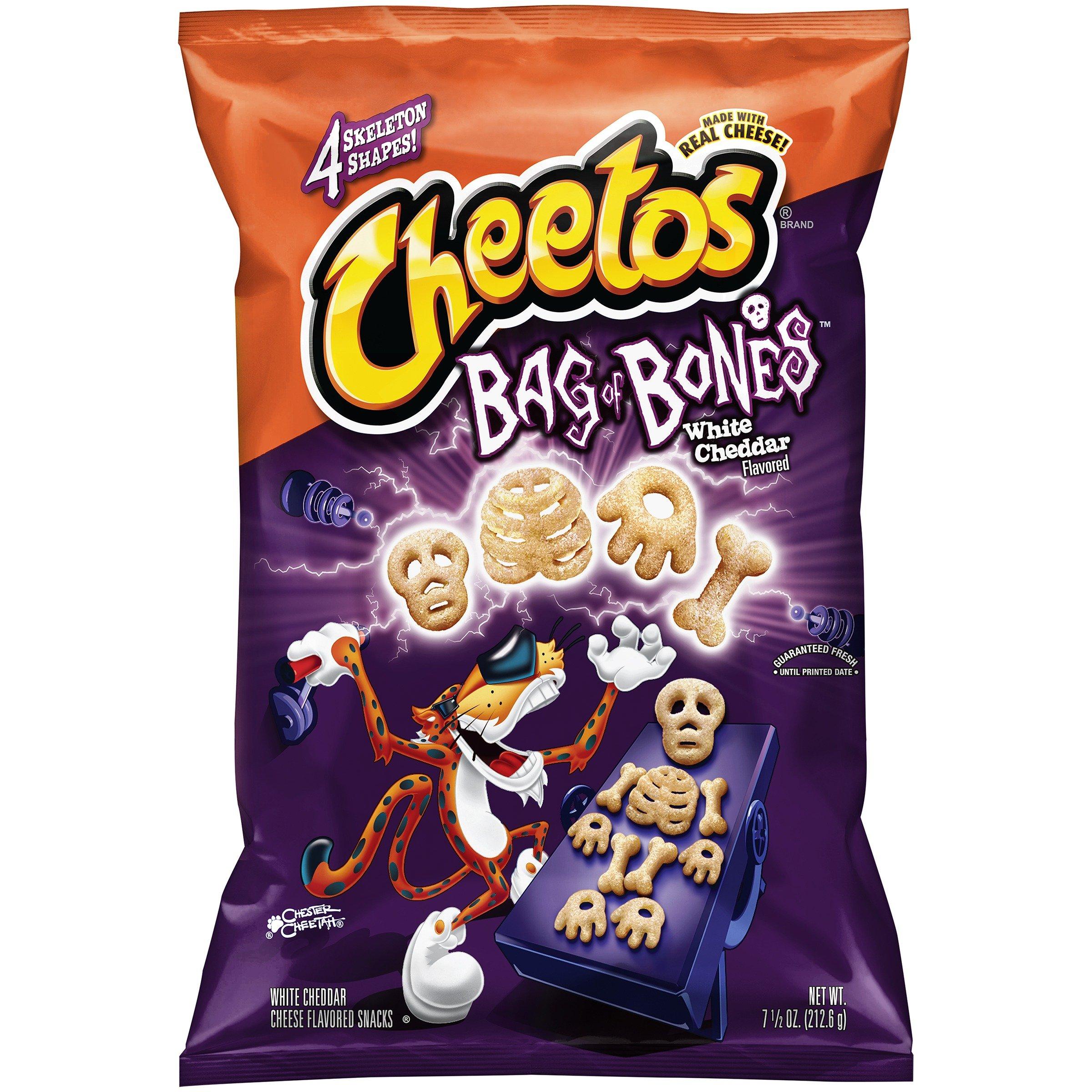 CHEETOS BAG OF BONES WHITE CHEDDAR CHEESE FLAVORED 7.5 oz. BAG ( 2 BAGS )