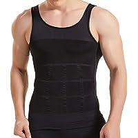 53a75d4ab4e HANERDUN Mens Body Shaper Slimming Shirt Compression Vest Elastic Slim  Shapewear