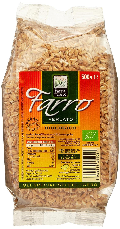 Amazon.com : Farro Perlato From Poggio Del Farro- 500 Grams- Organic : Semi Pearled Farro : Grocery & Gourmet Food