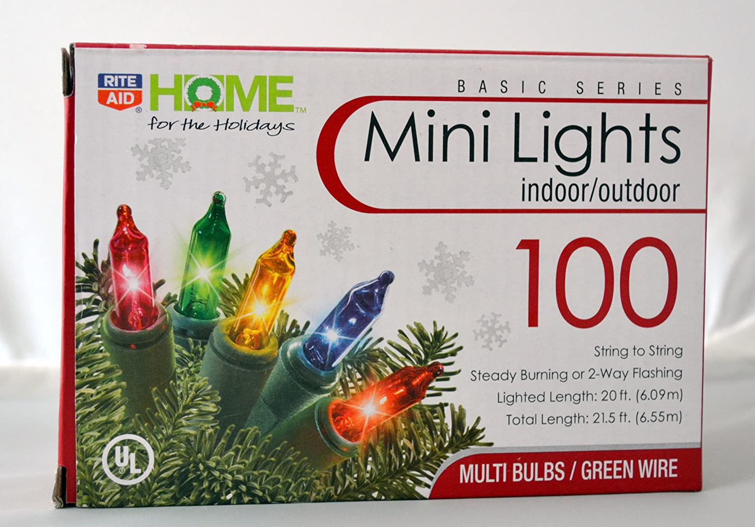amazoncom rite aid home for the holiday 100 color mini lights indooroutdoor home kitchen - Rite Aid Christmas Lights