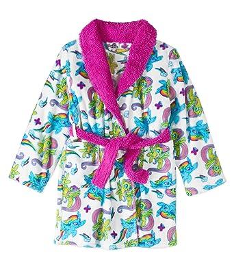 89248266c Amazon.com  My Little Pony Movie Bathrobe For Toddler Girls Fleece ...