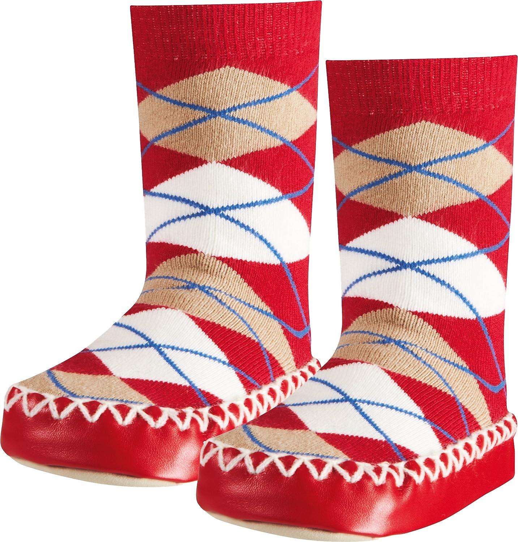 Playshoes Scarpe A Calzino con Suola Antiscivolo-Plaid Bambini Pantofole Unisex
