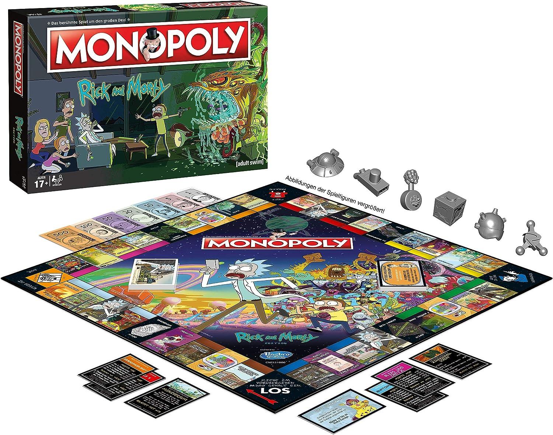 Winning Moves- Monopoly-Rick and Morty Juego de mesa, Color rick & morty, estándar (WIN45069) , color/modelo surtido: Amazon.es: Juguetes y juegos