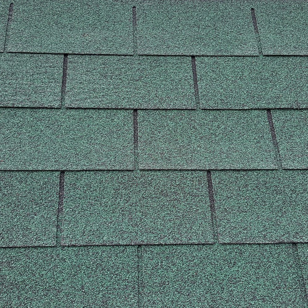 Roofing Felt Shingles | Shed Roof Felt | Square Butt | 4 Tab | Green Ashbrook Roofing