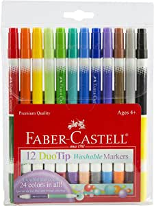 Faber-Castell DuoTip Washable Markers DuoTip Washable Markers - 12 Colors Multi