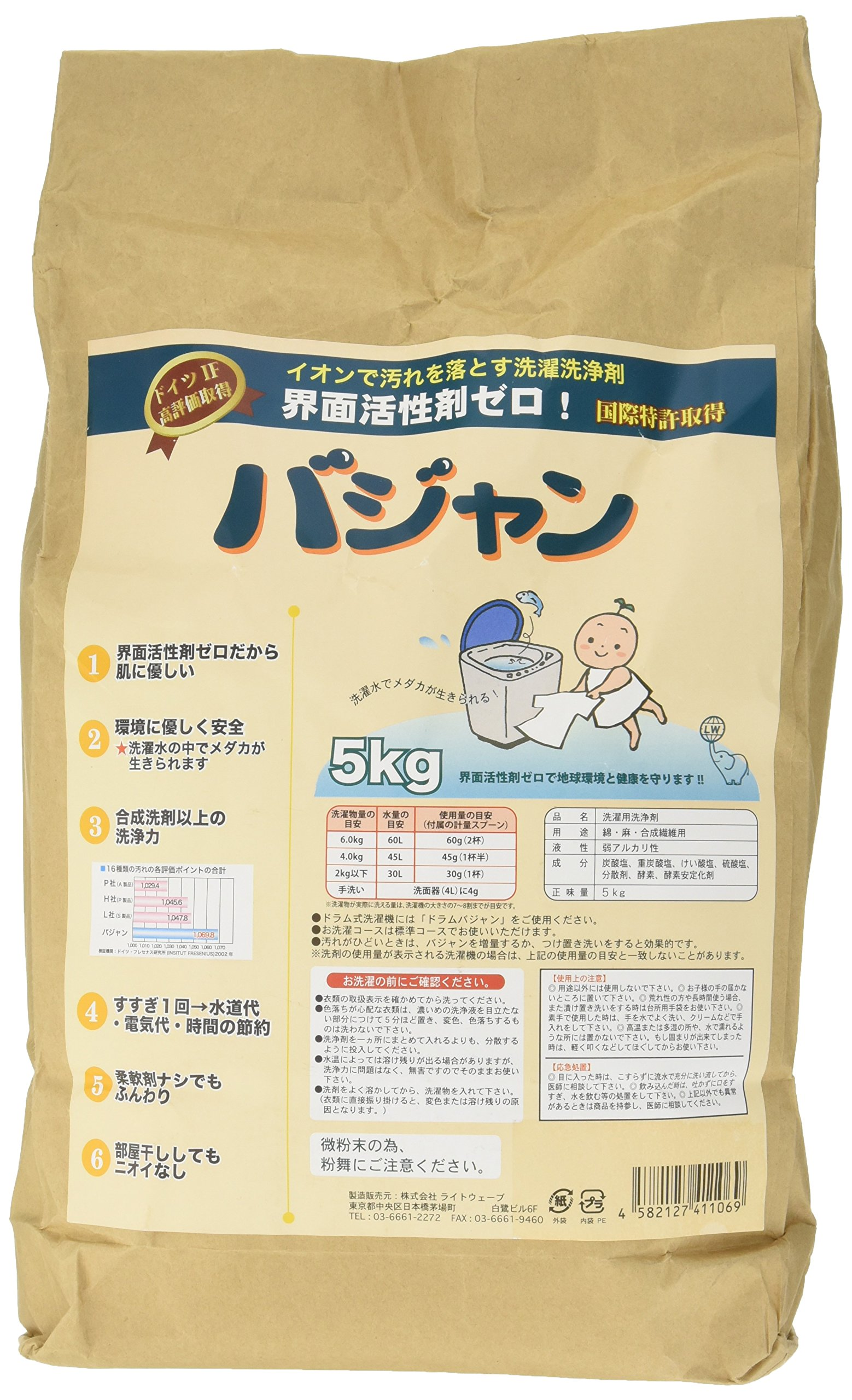 Extremely Earth Friendly&Skin Care Laundry Detergent,Bhajan,from Japan,11lb