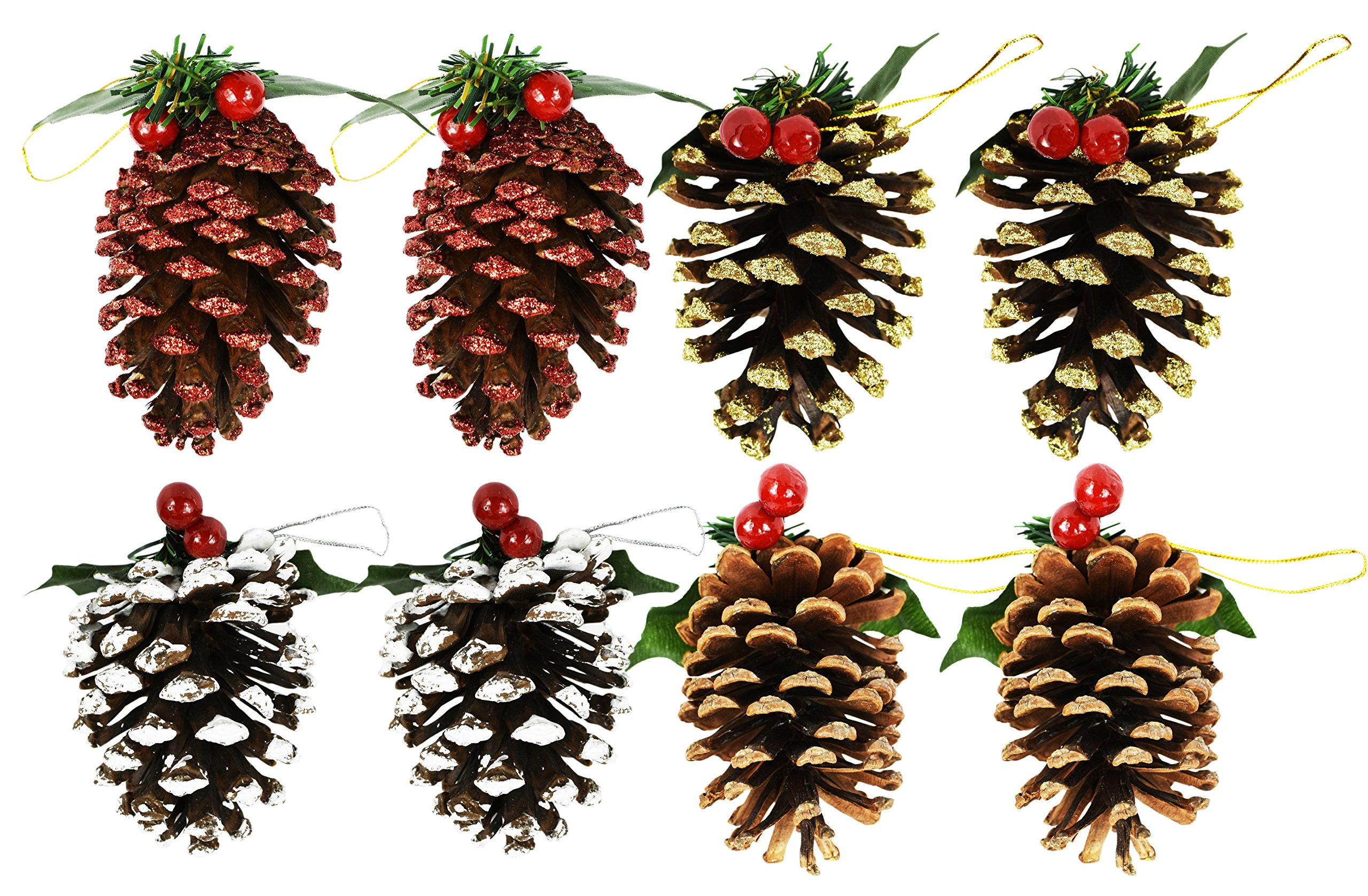 Pinecone And Berry Christmas Ornaments: Amazon.com
