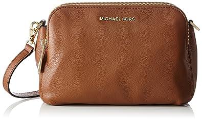 Michael Kors Bedford Medium Double Zip Messenger Crossbody (Luggage)