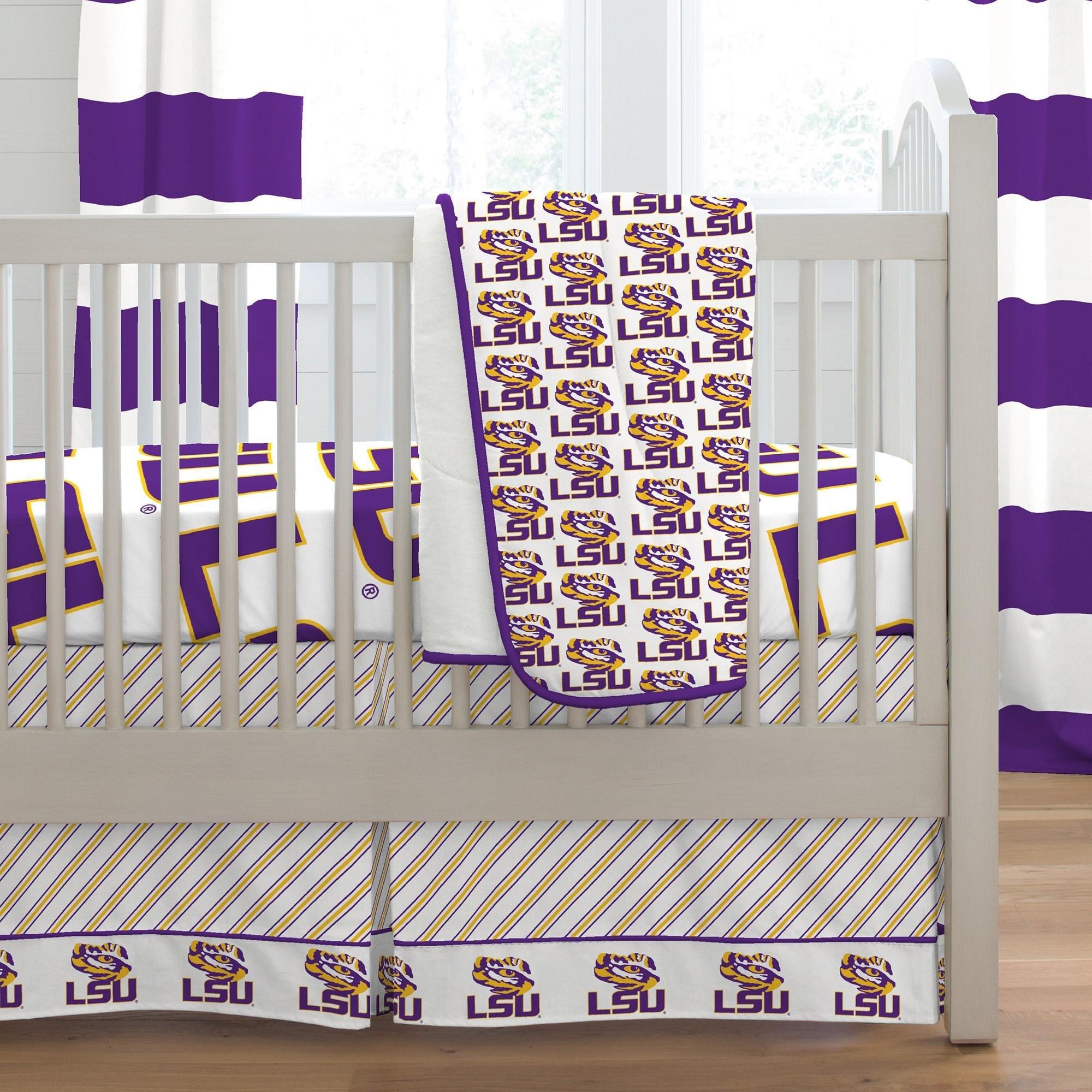 Carousel Designs LSU Crib Comforter