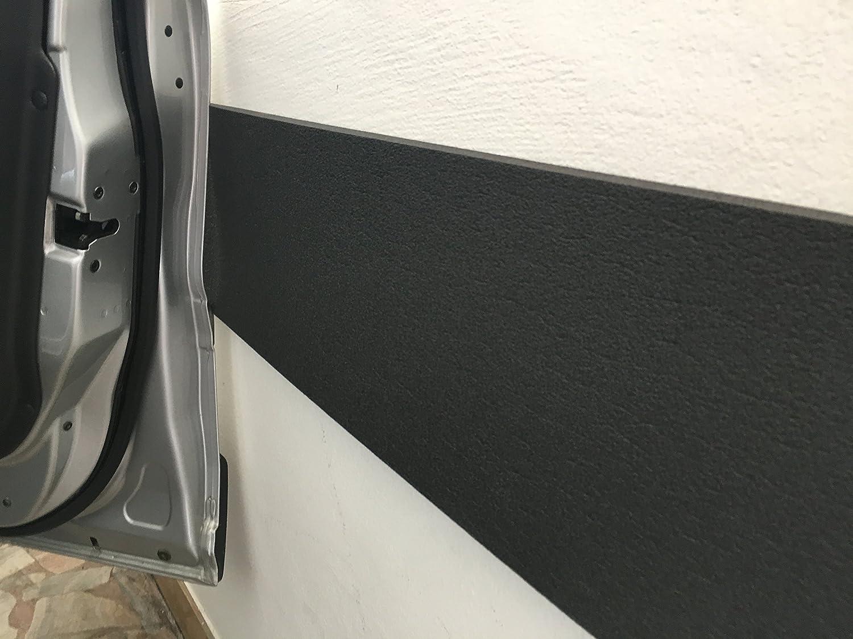 Paracolpi Pareti Garage box Auto strisce pannelli adesive 140/21/1cm Antracite colourcare24