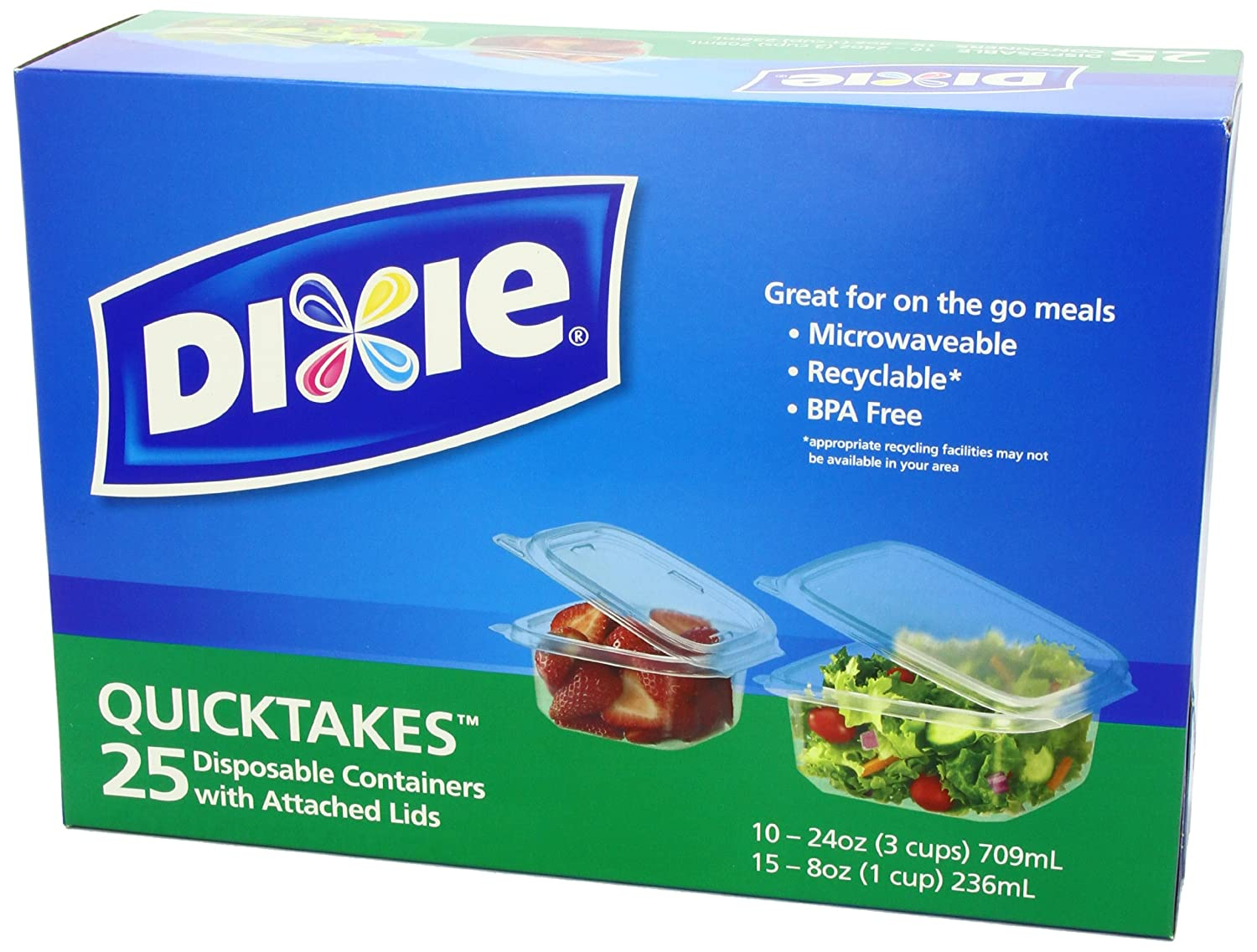 Lovely Amazon.com: Dixie Quicktakes Disposable Food Storage Containers With Attached  Lids, 25 Count: Health U0026 Personal Care
