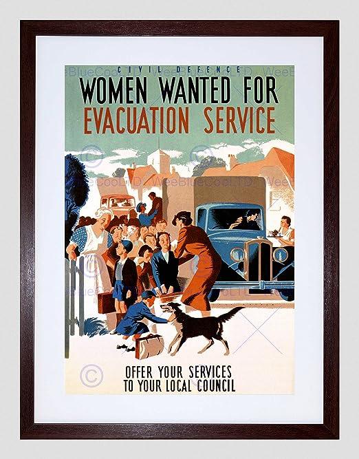 Evacuation of Children WWlI Repro Poster