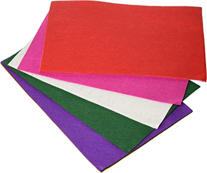 Artes Infinitas 84008 - Pack de 10 fieltro, multicolor, 20x30cm: Amazon.es: Oficina y papelería