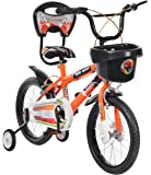 Mad Maxx Steel Kid's Single Speed Road Cycle, 16 Inches (Neon Orange)