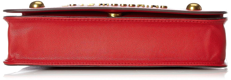 Moschino Nappa Grain Pu Rosso, Sacs portés épaule femme, (Red), 6x19x28 cm (B x H T)